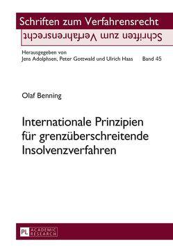 Internationale Prinzipien für grenzüberschreitende Insolvenzverfahren von Benning,  Olaf