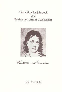 Internationales Jahrbuch der Bettina-von-Arnim-Gesellschaft von Bunzel,  Wolfgang, Lemm,  Uwe