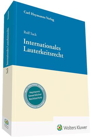 Internationales Lauterkeitsrecht von Sack,  Rolf