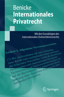 Internationales Privatrecht von Benicke,  Christoph