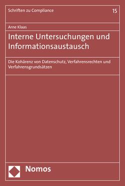 Interne Untersuchungen und Informationsaustausch von Klaas,  Arne
