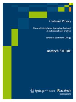 Internet Privacy von Buchmann,  Johannes