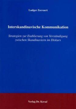 Interskandinavische Kommunikation von Zeevaert,  Ludger