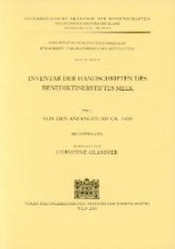 Inventar des Benediktinerstiftes Melk von Glassner,  Christine, Kresten,  Otto, Mazal,  Otto