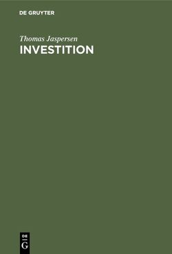 Investition von Jaspersen,  Thomas