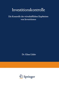 Investitionskontrolle von Lüder,  Klaus