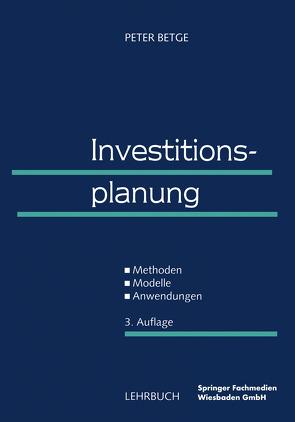 Investitionsplanung von Betge,  Peter