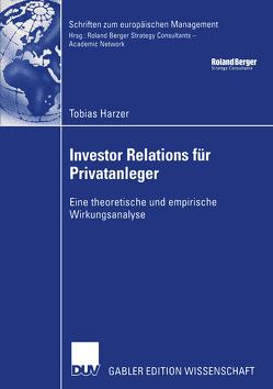 Investor Relations für Privatanleger von Harzer,  Tobias, Kötzle,  Prof. Dr. Afred