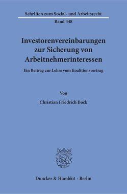 Investorenvereinbarungen zur Sicherung von Arbeitnehmerinteressen. von Bock,  Christian Friedrich
