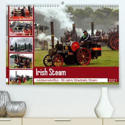 Irish Steam – 50. Dampftreffen in Stradbally (Premium, hochwertiger DIN A2 Wandkalender 2021, Kunstdruck in Hochglanz) von N.,  N.