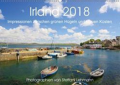 Irland 2018. Impressionen zwischen grünen Hügeln und blauen Küsten (Wandkalender 2018 DIN A2 quer) von Lehmann,  Steffani