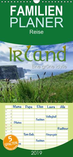 Irland – eine grüne Idylle – Familienplaner hoch (Wandkalender 2019 , 21 cm x 45 cm, hoch) von Lichtenberger,  Manuel