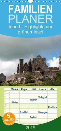 Irland – Familienplaner hoch (Wandkalender 2019 , 21 cm x 45 cm, hoch) von Brunn,  Roland