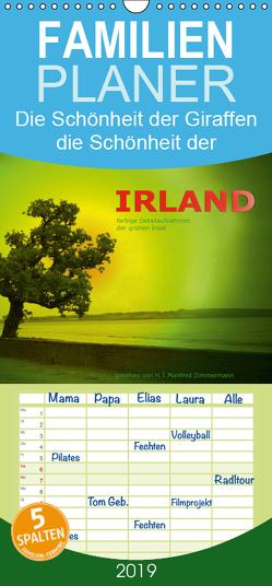 Irland – farbige Detailaufnahmen der grünen Insel – Familienplaner hoch (Wandkalender 2019 , 21 cm x 45 cm, hoch) von Zimmermann,  H.T.Manfred