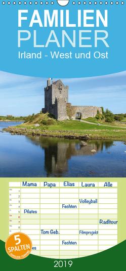 Irland – West und Ost – Familienplaner hoch (Wandkalender 2019 , 21 cm x 45 cm, hoch) von Jordan,  Andreas