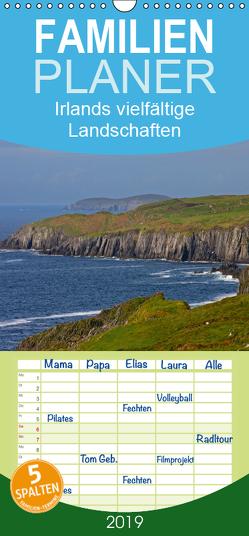 Irlands vielfältige Landschaften – Familienplaner hoch (Wandkalender 2019 , 21 cm x 45 cm, hoch) von Uppena,  Leon