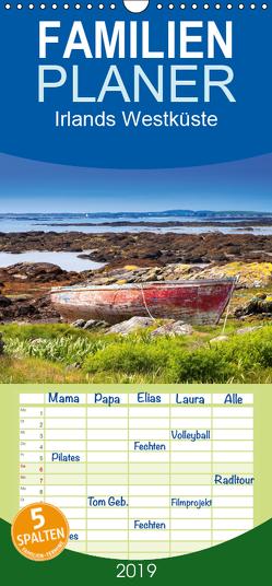 Irlands Westküste – Familienplaner hoch (Wandkalender 2019 , 21 cm x 45 cm, hoch) von Klust,  Juergen
