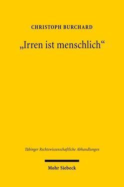 """""""Irren ist menschlich"""" von Burchard,  Christoph"""