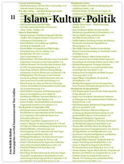Islam ∙ Kultur ∙ Politik von Amirpur,  Katajun, Grätz,  Ronald, Hahn,  Olaf, Klug,  Petra, Mazyek,  Aiman A., Münkler,  Herfried, Schulz,  Gabriele, Zimmermann,  Olaf