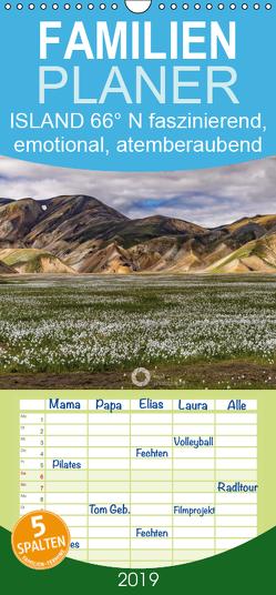 Island 66°N faszinierend, emotional, atemberaubend – Familienplaner hoch (Wandkalender 2019 , 21 cm x 45 cm, hoch) von Leipe (leipe photography),  Peter