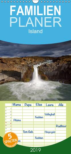 Island – Familienplaner hoch (Wandkalender 2019 , 21 cm x 45 cm, hoch) von Dauerer,  Jörg