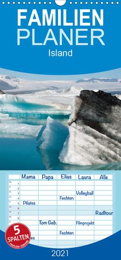 Island – Familienplaner hoch (Wandkalender 2021 , 21 cm x 45 cm, hoch) von Scholz,  Frauke