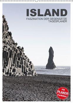 Island – Faszination der Gegensätze – Tagesplaner (Wandkalender 2019 DIN A2 hoch) von Steiner,  Ingrid