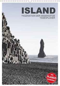 Island – Faszination der Gegensätze – Tagesplaner (Wandkalender 2020 DIN A3 hoch) von Steiner,  Ingrid