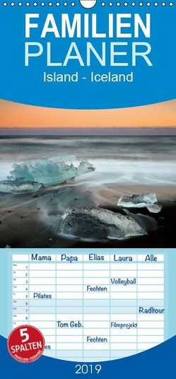 Island – Iceland – Familienplaner hoch (Wandkalender 2019 <strong>21 cm x 45 cm</strong> hoch) von Grosskopf,  Rainer