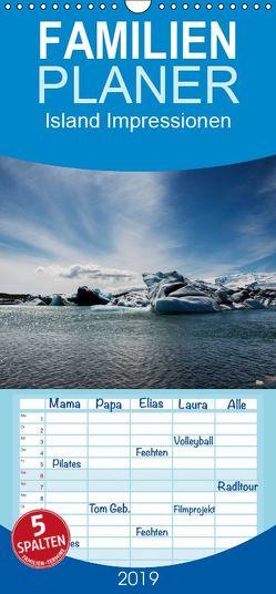 Island Impressionen – Familienplaner hoch (Wandkalender 2019 , 21 cm x 45 cm, hoch) von Gerken,  Klaus