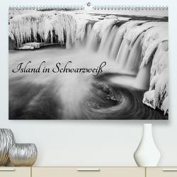Island in Schwarzweiß (Premium, hochwertiger DIN A2 Wandkalender 2020, Kunstdruck in Hochglanz) von van Hauten,  Markus