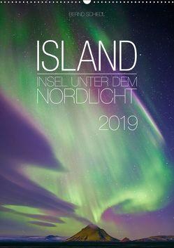 Island – Insel unter dem Nordlicht (Wandkalender 2019 DIN A2 hoch) von Schiedl,  Bernd