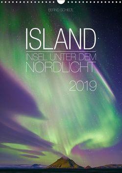 Island – Insel unter dem Nordlicht (Wandkalender 2019 DIN A3 hoch) von Schiedl,  Bernd