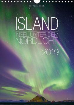 Island – Insel unter dem Nordlicht (Wandkalender 2019 DIN A4 hoch) von Schiedl,  Bernd