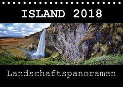 Island Landschaftspanoramen (Tischkalender 2018 DIN A5 quer) von Vonten,  Dirk