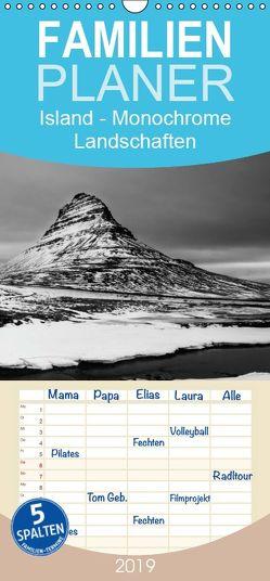 Island – Monochrome Landschaften – Familienplaner hoch (Wandkalender 2019 , 21 cm x 45 cm, hoch) von Paul Kaiser,  Frank