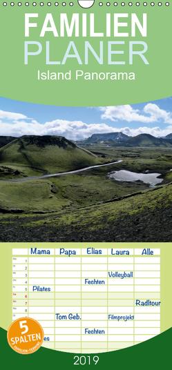 Island Panorama – Familienplaner hoch (Wandkalender 2019 , 21 cm x 45 cm, hoch) von Stehlmann,  Ute