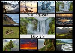 Island (Tischkalender 2021 DIN A5 quer) von Tappeiner,  Kurt