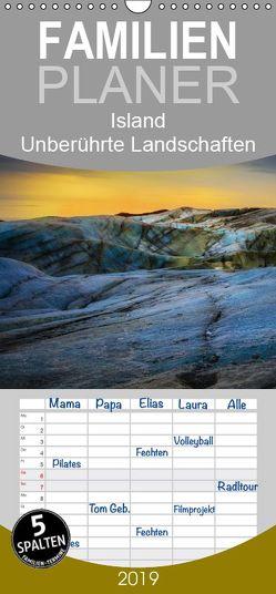 Island – Unberührte Landschaften – Familienplaner hoch (Wandkalender 2019 , 21 cm x 45 cm, hoch) von Paul Kaiser,  Frank