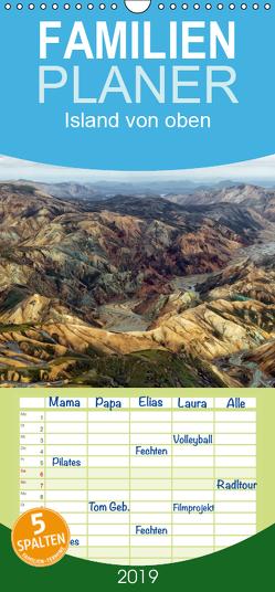 Island von oben – Familienplaner hoch (Wandkalender 2019 , 21 cm x 45 cm, hoch) von Ratzer,  Klaus