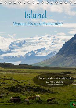 Island – Wasser, Eis und Feenzauber (Tischkalender 2019 DIN A5 hoch) von Alexandra Burdis,  ©