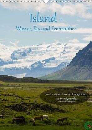 Island – Wasser, Eis und Feenzauber (Wandkalender 2018 DIN A3 hoch) von Alexandra Burdis,  ©