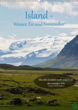 Island – Wasser, Eis und Feenzauber (Wandkalender 2019 DIN A2 hoch) von Alexandra Burdis,  ©