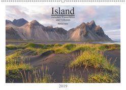 Island: zwischen Wasserfällen und Vulkanen 2019 (Wandkalender 2019 DIN A2 quer) von Heber,  Michael