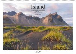 Island: zwischen Wasserfällen und Vulkanen 2020 (Wandkalender 2020 DIN A2 quer) von Heber,  Michael