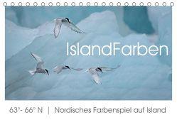 IslandFarben. 63°- 66°N Nordisches Farbenspiel auf Island (Tischkalender 2019 DIN A5 quer) von van der Wiel,  Irma