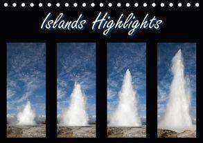Islands Highlights (Tischkalender 2018 DIN A5 quer) von Scholz,  Frauke