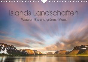 Islands Landschaften – Wasser, Eis und grünes Moos (Wandkalender 2018 DIN A4 quer) von Hartung,  Salke