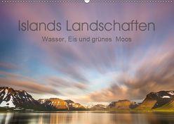Islands Landschaften – Wasser, Eis und grünes Moos (Wandkalender 2019 DIN A2 quer) von Hartung,  Salke