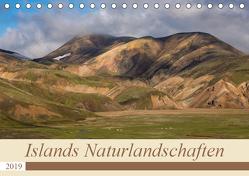Islands Naturlandschaften (Tischkalender 2019 DIN A5 quer) von Jürgens,  Olaf